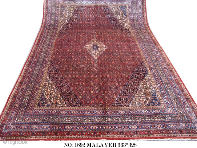 Early 20th C. Malayer, woven in Symmetrical knots with 100% hand spun wool, possibly from a village of Bibik-abad in western Persia,  in a beautiful condition for it&#039;s age. rare piece,  ...