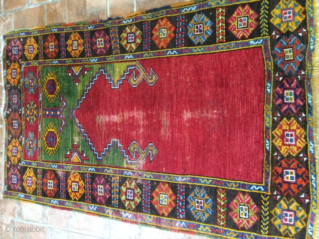 Anatolian prayer rug, Karaman 