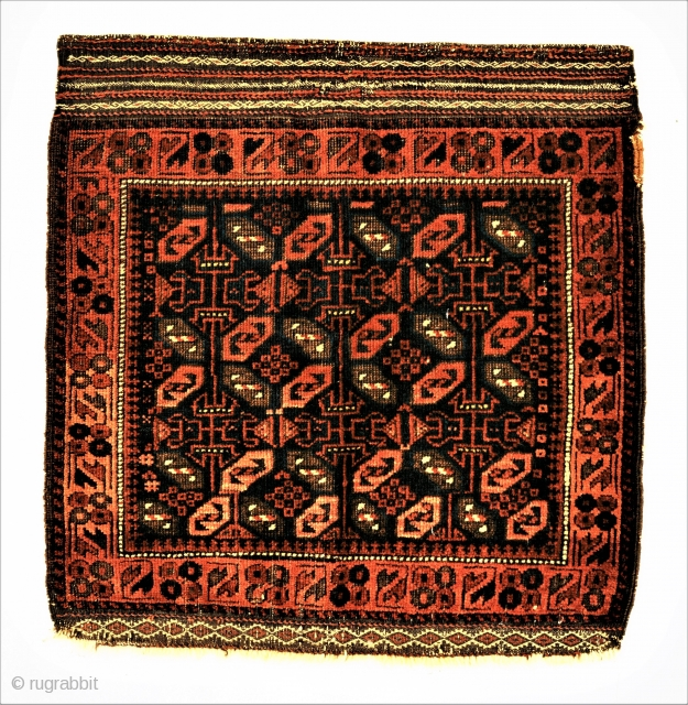 Timuri, khorin face, 19c 23 x 24 inches. Choice example of desirable type.
