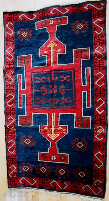 Published 19c antique Avar rug from Daghestan, see HALI 29, 1986, p. 42, fig. 5. Formerly in the Jerrehian Family Collection.