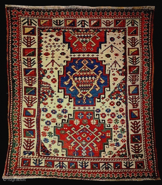 A charming 19c SW Caucasian small rug, now in a Scandinavian private collection.