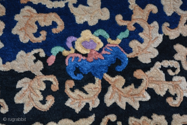 "Stunningly Beautiful 1930's Art Deco Fetti Chinese 9' x 11'7"", with Fabulous Camel, Green, Yellow, Purple, Red and multiple Blue colors. Designed with Ming Court motifs re-imagined in an Art Deco configuration  ..."