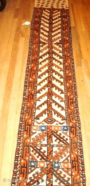 Pile Yomud Tent Band Complete, size: 52ft. x 1ft.8in. (.51m x 15.80m) good condition, kilim ends