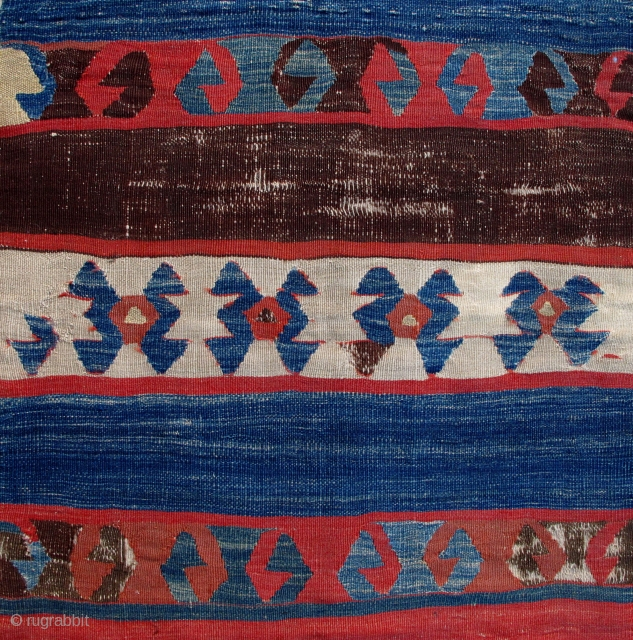 Early East Anatolian Kilim Fragment,ca.1800,80x245cm,professionally mounted on linen.A great one!