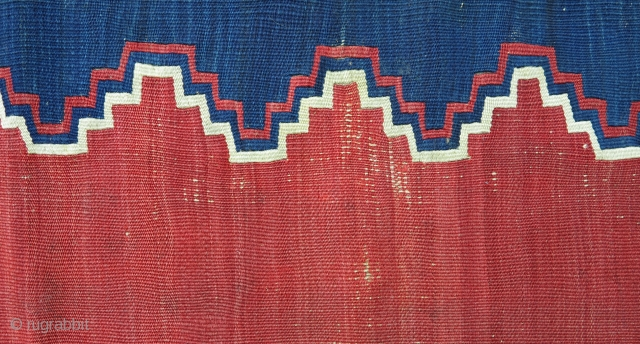 Yuncu Kilim, mid 19th century, 150x230cm, beautiful clear colors, very nice patina, fine weave, professionaly mounted on linen. Dynamic Minimalism!