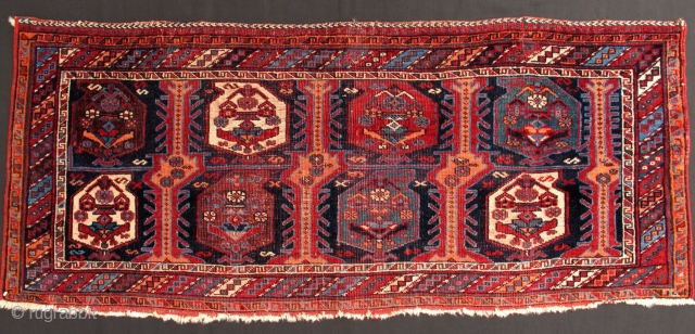 Afshar Bagface,50x120cm,unusual pallete of beautiful all natural colors,fine weave,great example of this group.