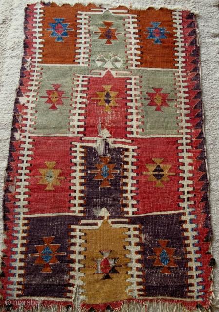 Early Central Anatolian Prayer Kilim,100x170cm,steppes art.