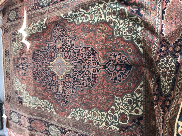 8.6x12.6 antique sarouk farahan Rug