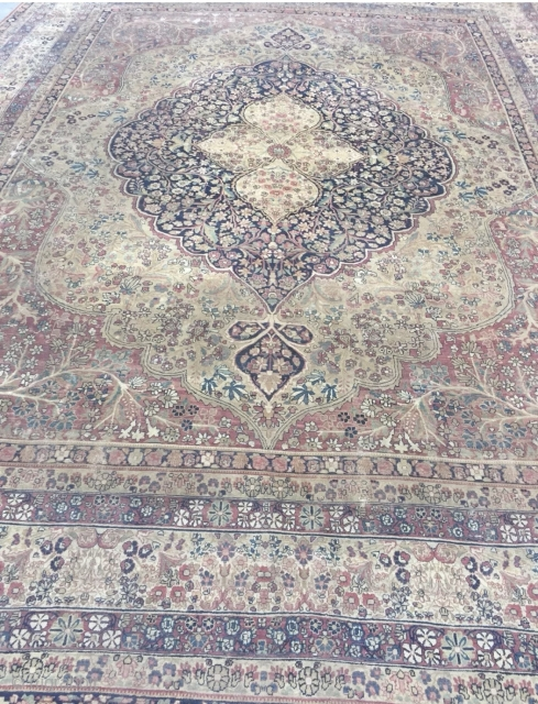 12x16 antique persian kerman lavar