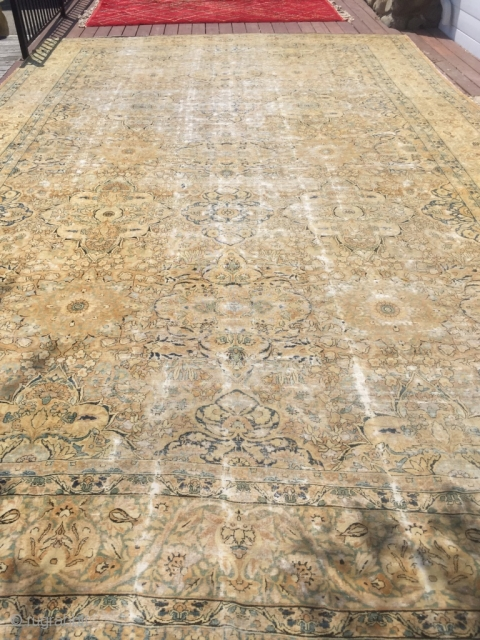 13x19 Antique Palace size Persian Kerman rug 