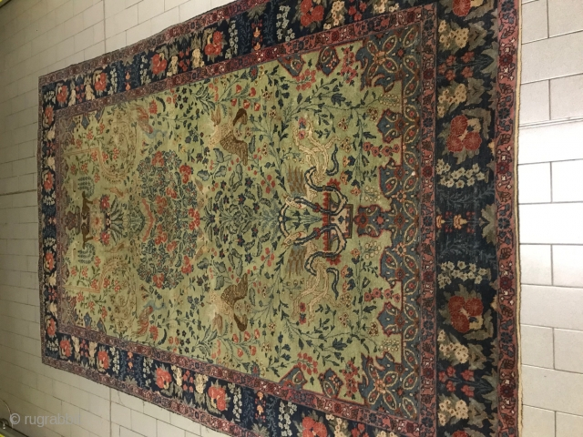 263x170 cm Tabriz Khoy antique.