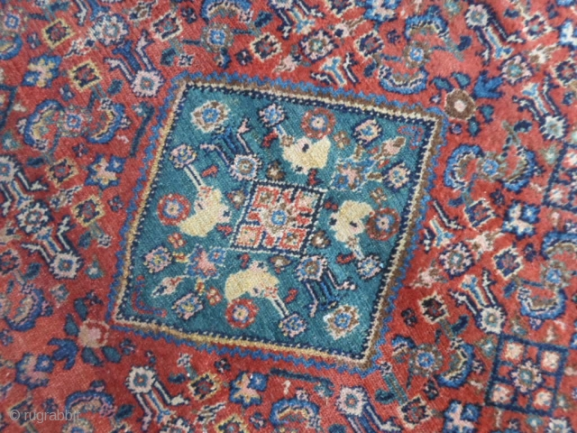193x125 cm. Antique very fine knot Serabend in very good condition.