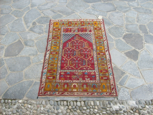 162 x 101 cm Antique KIRSHIR prayer rug in very good condition