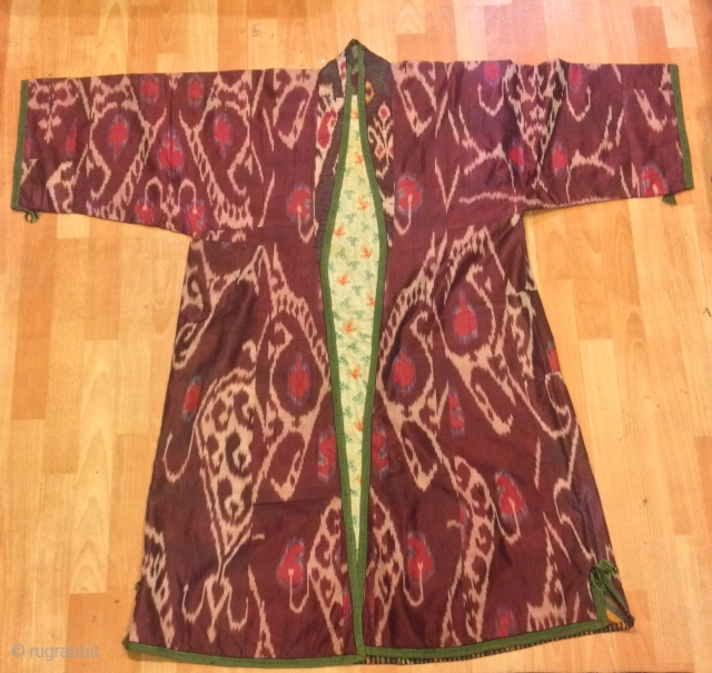 Uzbek silk İkat chapan kaftan 