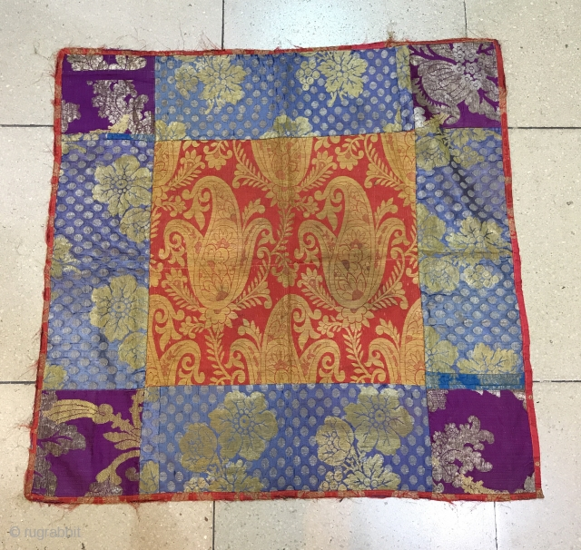 Vintage silk handmade Russian textiles 