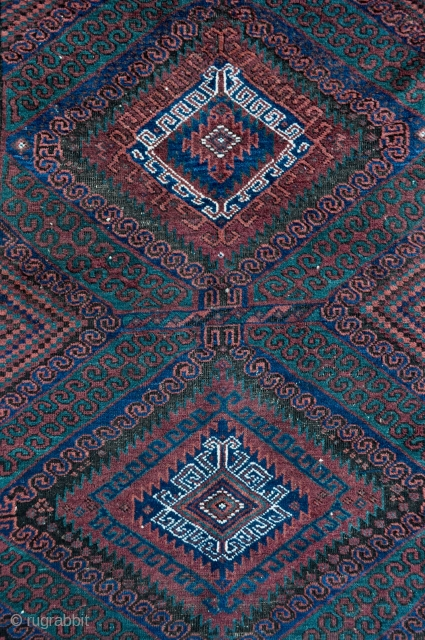 Mushwani Baluch Long rug - about 3'6 x 9' - 110 x 275 cm.
