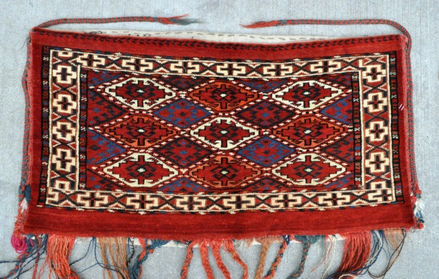 "Yomud Turkmen Torba in near mint condition - 31"" x 16"" - 79 x 40 cm. - late 19th c."