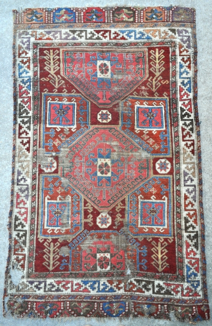 Exceptional 18th c. Konya Basarakavak rug with excellent saturated colors, a true Anatolian collectors Gem, rare find. - about 4'0 x 6'7 - 122 x 201 cm.