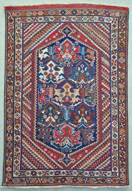 Antique Afshar Rug - 4'2 x 6'1 / 127 x 184 cm.