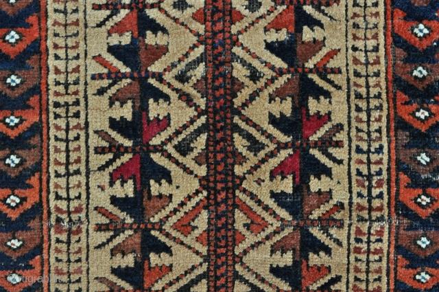 "Baluch Balisht with Camel field - 19"" x 35"" - 49 x 89 cm."