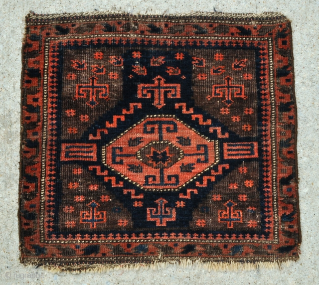 Timuri Baluch Bag face with Octagon and Star design - 23 x 22 - 59 x 56 cm.