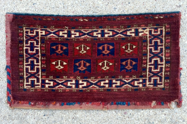 "For the collector of small... Cute and Rare little Turkmen Yomud Kap - 16"" x 9"" - 41 x 23 cm."