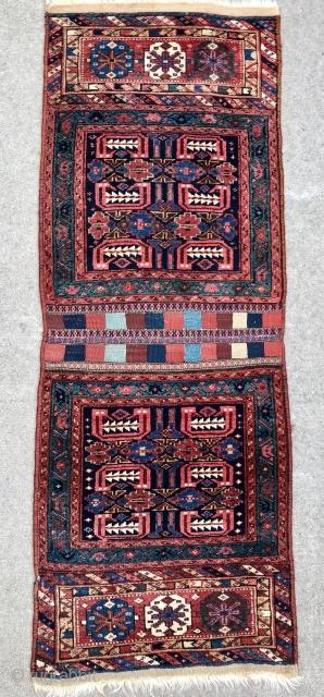 """Pair of NW Persian Saddle Bagfaces - 23"""" x 63"""" - 58 x 162 cm."""