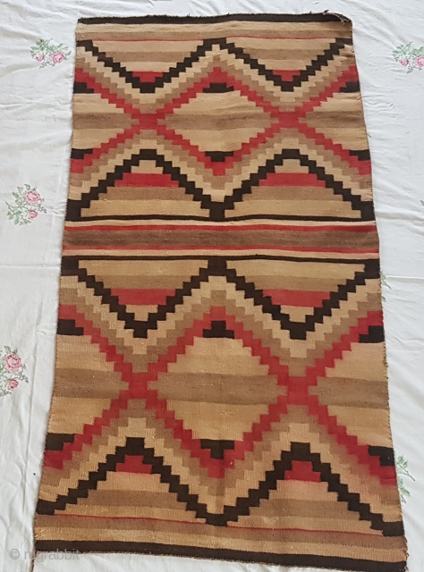 Old navajo rug very graphic first quarter 20th c. 5ft9x2ft9 $150 plus shipping