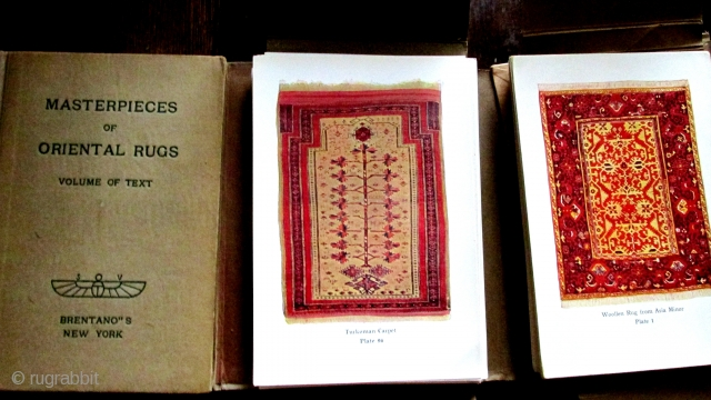 "GROTE HALSENBALG 5.25"" x 7.5"" - A rare, 3 volume set of books with 120 plates contains some of the greatest rugs ever published.  The photos were taken for the publication  ..."