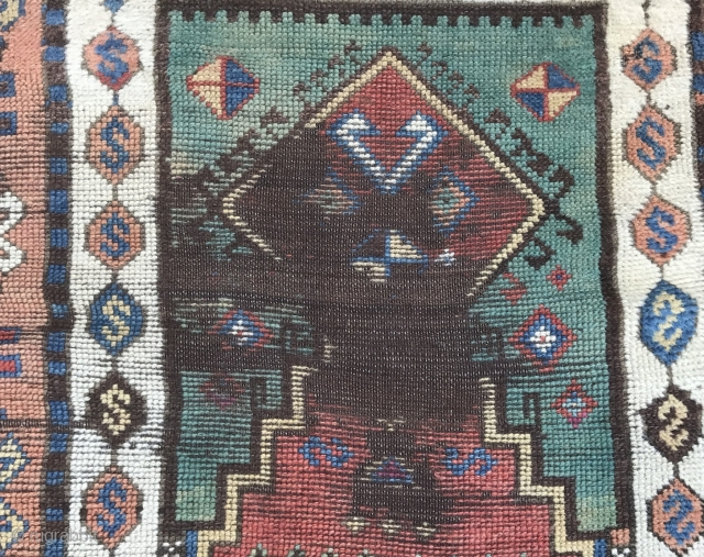 An east Anatolian prayer rug , circa : first half 19th century in condition as photos daylights above.