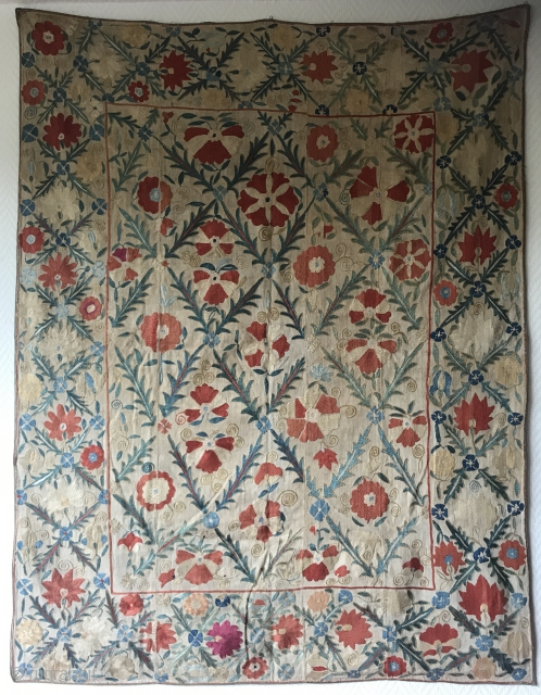 Beautiful Nim Suzani . Circa 19th , size : 128x100cm , great condition and clean .