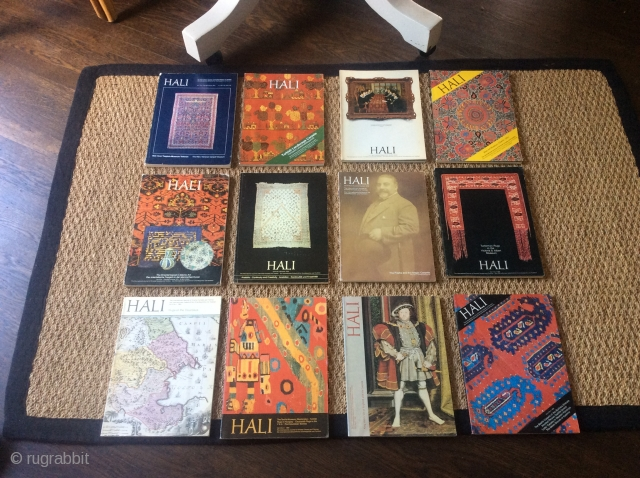 HALI MAGAZINES -- the first 12 