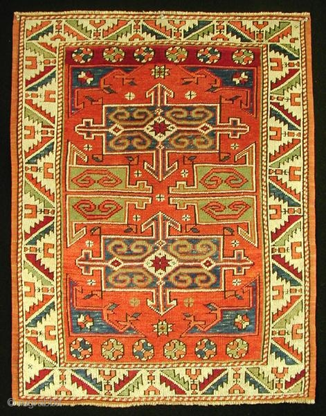 "Bergama Rug,     109 x 85 cm / 3\'7"" x 2\'10\"" ft,    19th century"