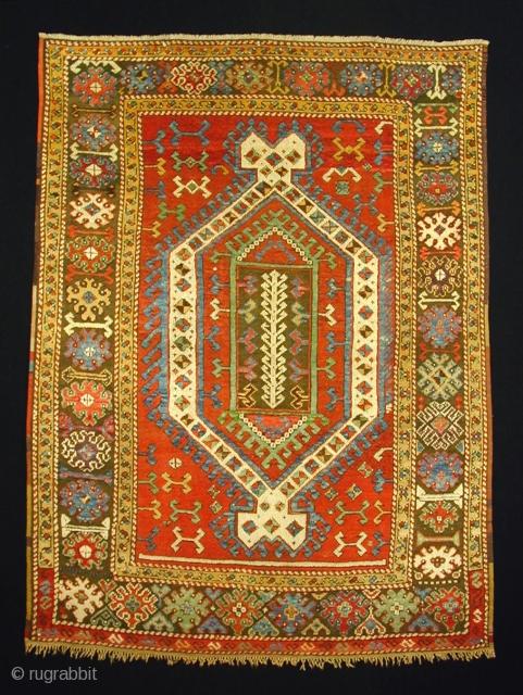 """Konya/Karapinar,    205 x 152 cm / 6\'9\"""" x 5\'0\"""" ft    age: ca. 1800 (No.17955)"""