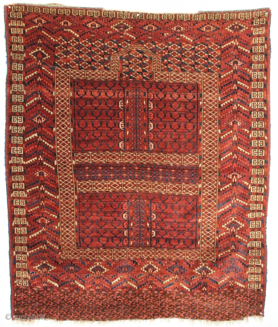 Tekke Turkmen Ensi. Circa 1870, Great condition. 4-4 x 5-1 ft.