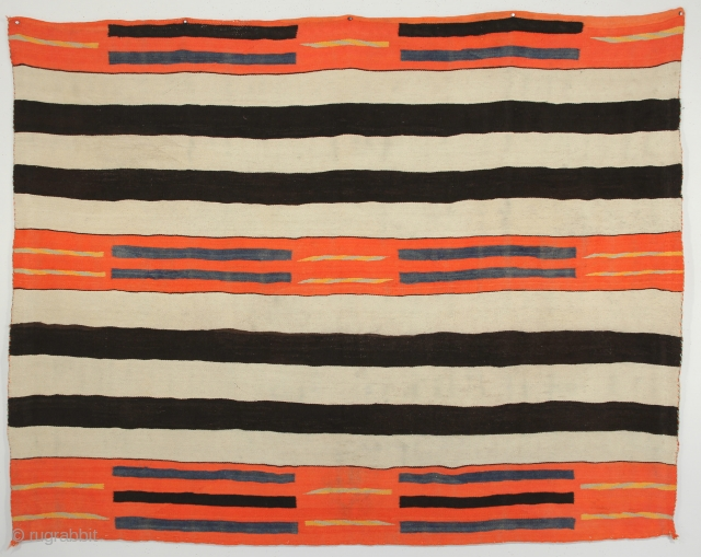 2nd Phase Navajo Chief's Blanket. Circa 1870. 5-0 x 6-5 ft.