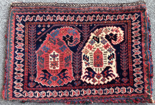 Afshar double-sided (complete) Chanteh. Southeast Persia, last quarter of the 19th century. 11'' x 17'' inches. In pristine condition...beautiful colors. I'll let the photos speak for themselves...