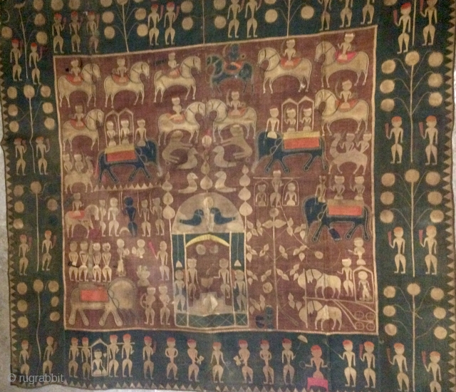 Kanduri Cloth Applique Presented by Pilgrims as an offering at the grave of the muslim prince Sara Masoud in Varley , uttar Pradesh, India.