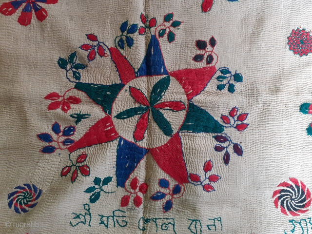 Antique kantha west bengal, quilt, India