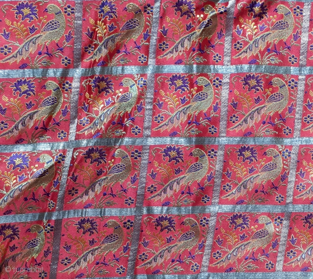 Antique brocade saree. 19c