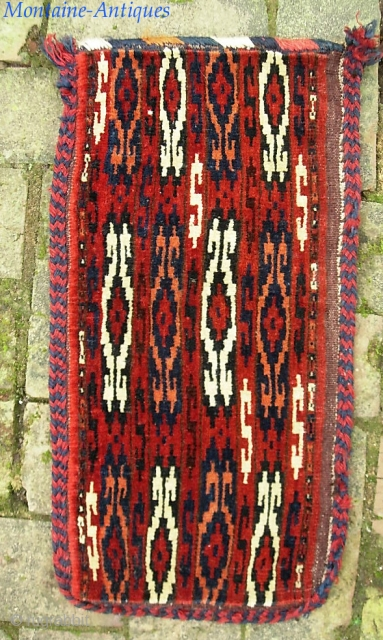 Turkoman. 11 x 21 inches. spindle bag? Not my area of expertise. $15 ups to lower 48.