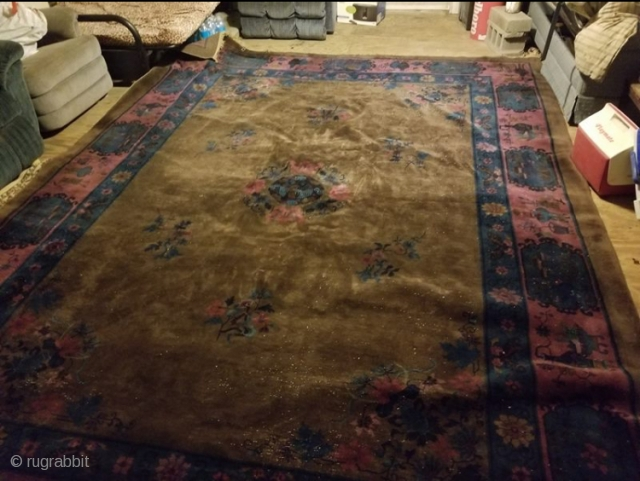 "Better pictures and accurate size coming soon. Rug has wear. Rug measures 10'1""x 13'4"""