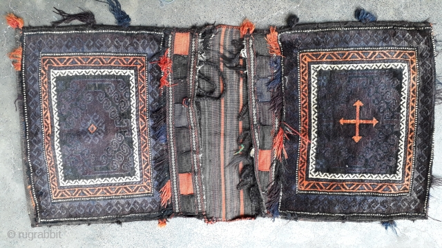 Balochi khorjin with two different design on both side. Size 140x66 cm
