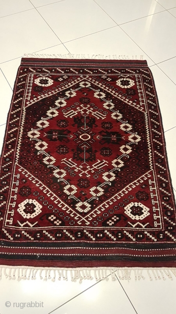 Antique West Anatolian pure wool Bergammon 114x167cm  very good condition vivid colour