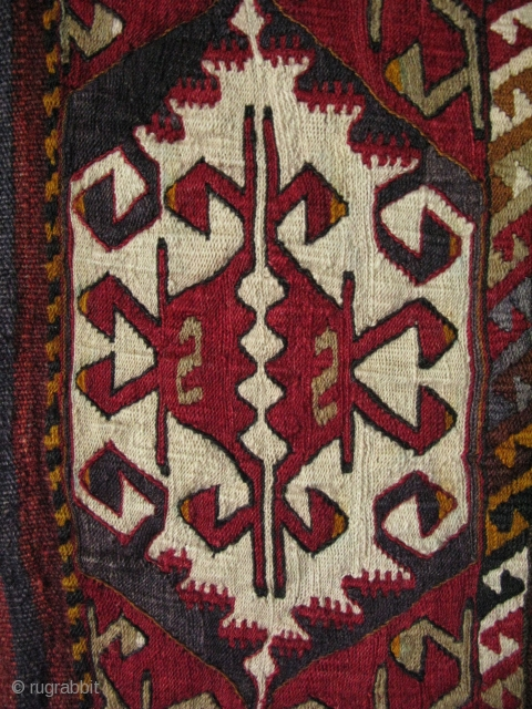 "South East Anatolian grain sack. Some small repairs on side panels. Size: 45.5"" x 60"" - 116cm x 152cm."