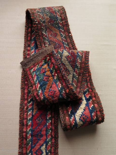 "Baluch pile band. Size: 4.5"" x 71.5"" - 12 cm x 182 cm."