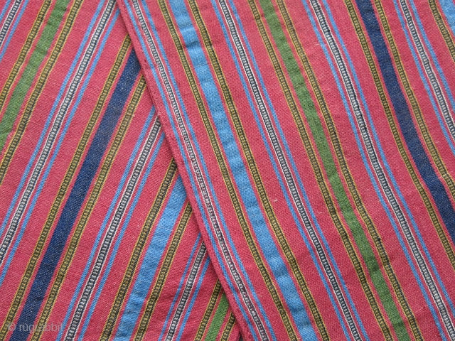 Persia Kurdish extreme fine woven mini double bag. hard to imagine such fine warp faced weaving can exist. Amazing saturated natural colors. Tiny spot secured on edge of one side pocket. size  ...