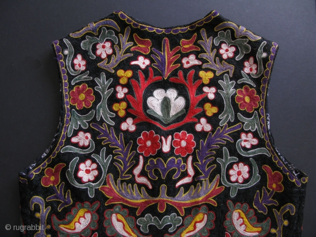 Samarkand chain stitch embroidery womens vest.                           