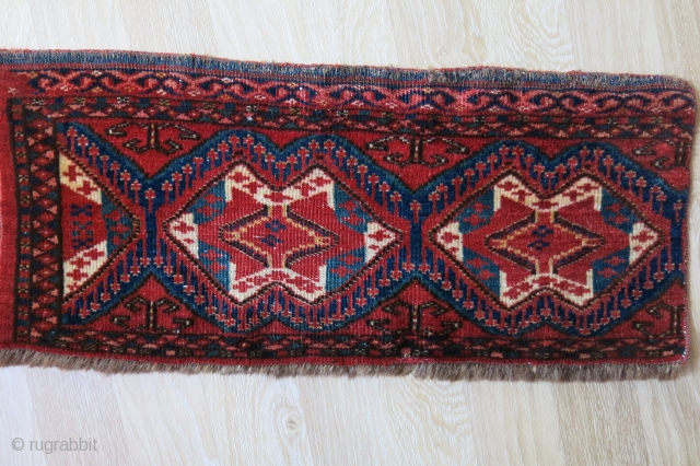 "Turkmen Ersary all wool ikat design torba fragment. Circa - 1900 or earlier size : 30"" X 13"" - 76 cm X 33 cm"