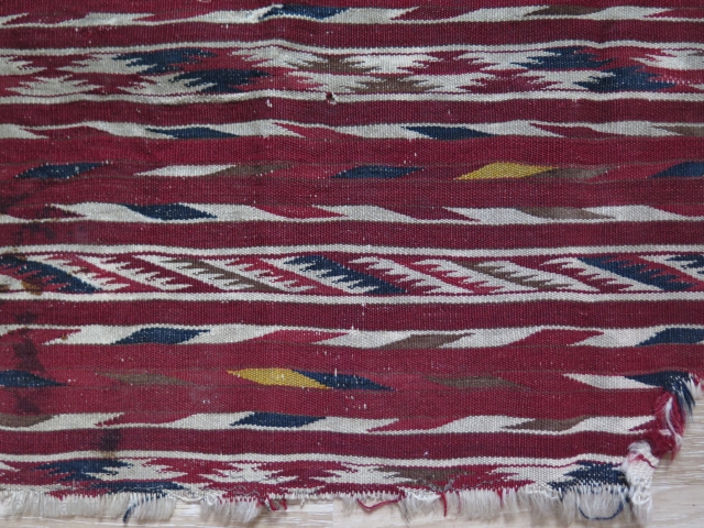 "Turkmen Kilim fragments. Sizes: 20"" x 52"" - 52 cm x 137 cm and 30"" x 50"" - 77 cm x 129 cm."